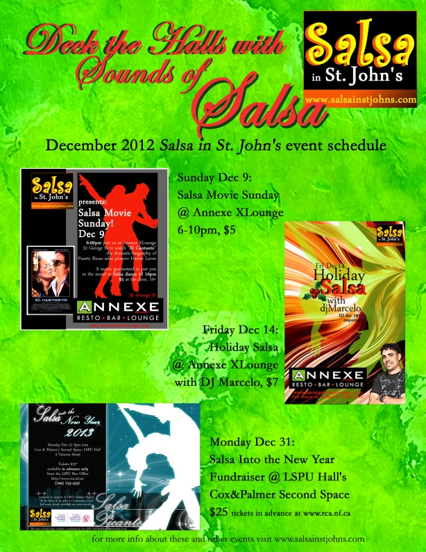 deck the halls 2012 xmas holiday salsa schedule flyer copy