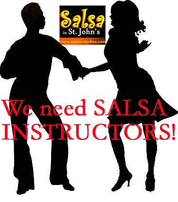 we need salsa instructors copy