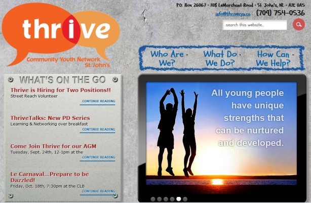thrive homepage