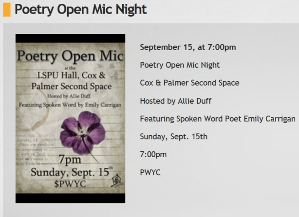 poetry night sept 15