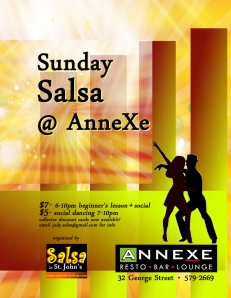 Sunday salsa anneXe new poster copy