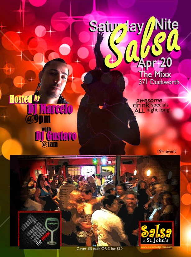 salsa @ mixx poster apr 20 2013