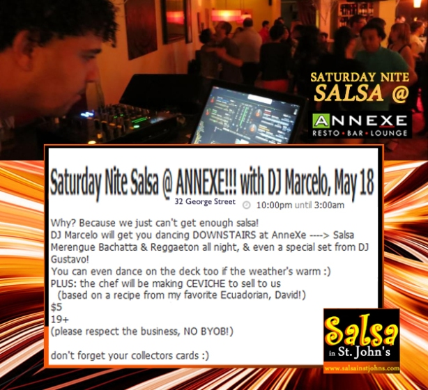 Sat Nite Salsa at AnneXe May 18 2013