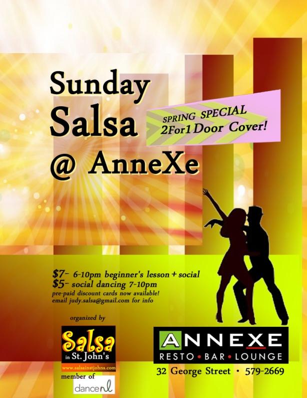 Sunday Salsa @ AnneXe poster