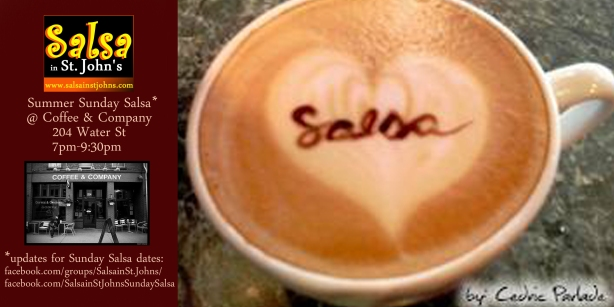 coffee company salsa flyer