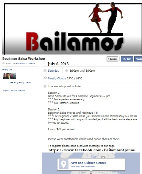 July 6th 2013 beginners workshop bailamos