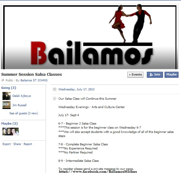summer session salsa classes bailamos