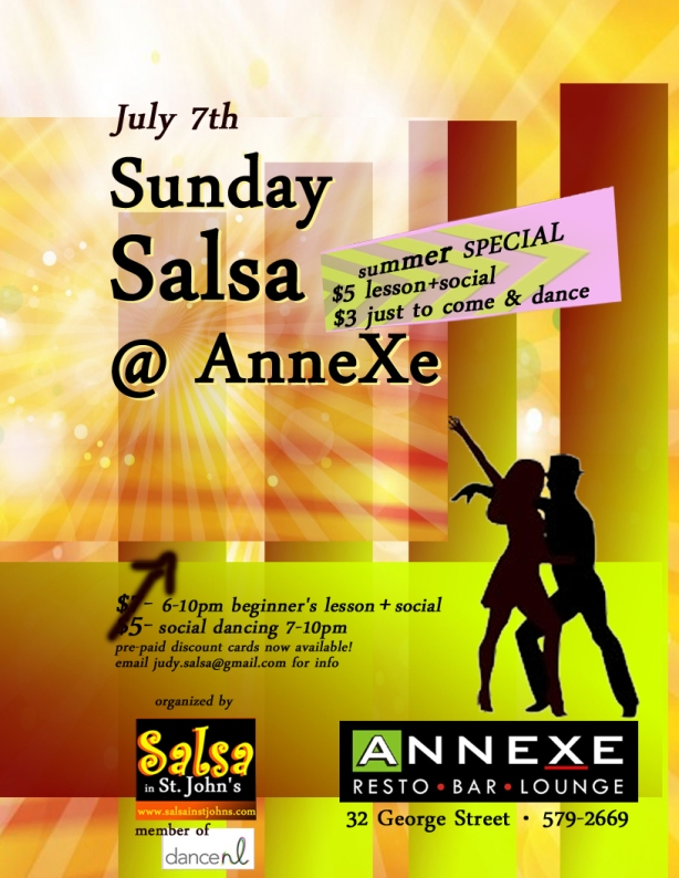 Sunday salsa poster July 7th 2013 EDn copy