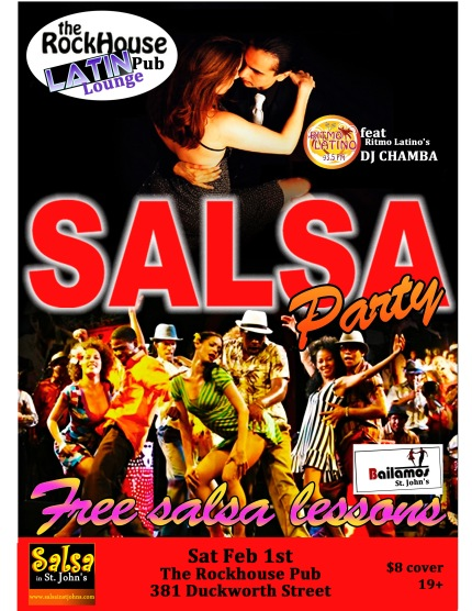 Salsa Party @ The Rock House Pub, Sat Feb 1st 9pm-1am
