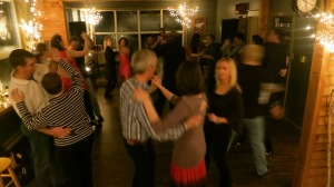Casino de Rueda lesson, Salsa Party @ Quidi Vidi Brewery hosted by Bailamos St. John's, Dec 2013