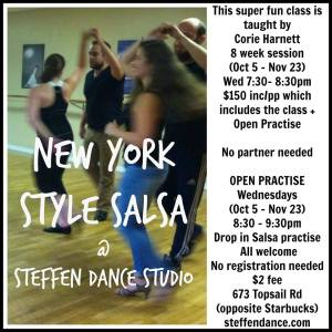 corie salsa lessons fall 2016 flyer